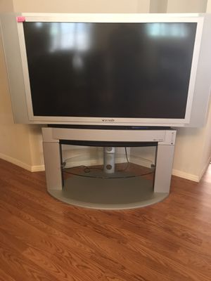 TV 50 inch Panasonic with Glass Stand Works Great) for Sale in Gilbert, AZ