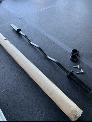 "Brand New 47"" CAP Olympic Curl Bar for Sale in Long Beach, CA"