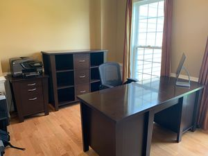 Storehouse desk, side table and decorative file cabinet. for Sale in Chantilly, VA