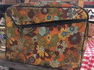 Mid century modern vintage suitcase luggage for Sale in San Diego, CA