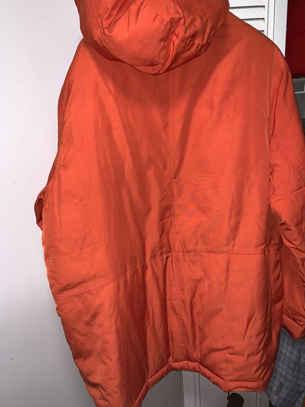 Orange Parka Coat