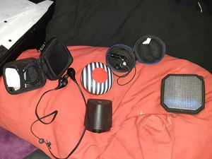 3 Bluetooth, wireless speakers and 2 bluetooth, wireless earbuds for Sale in Colorado Springs, CO