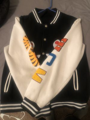 Authentic Bape letterman Jacket (used) Size M for Sale in Denton, TX
