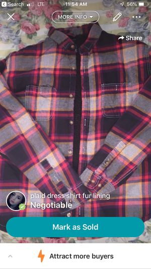 Plaid fur lined shirt for Sale in Franconia, VA