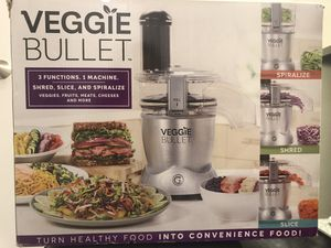 Brand new Magic Bullet Veggie Bullet Electric Spiralizer & Food Processor - Silver for Sale in Rockville, MD