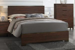 3PC QUEEN BEDROOM SET: QUEEN BED FRAME, CHEST OF DRAWER DRESSER, NIGHT STAND for Sale in Antioch, CA