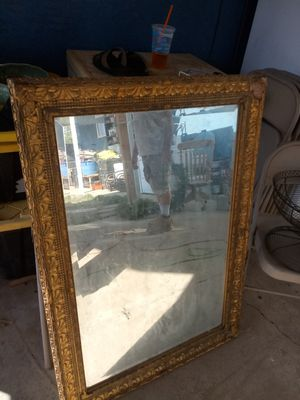 Gold colored mirror for Sale in Riverside, CA