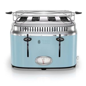 New Russell Hobbs Retro Style 4-Slice Heavenly Blue and Stainless Steel Toaster with Built-In Timer for Sale in Houston, TX