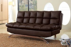 Monaco PU Futon Sofa Bed, turns into a bed in seconds, available in 2 colors $329.00. In stock! Free delivery 🚚 for Sale in Ontario, CA