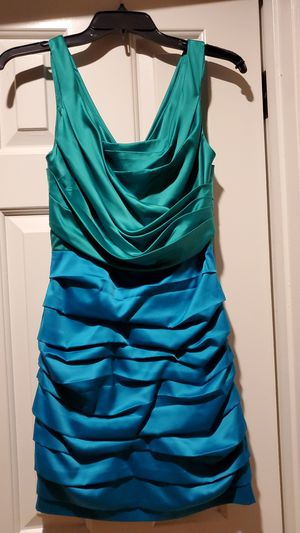Express Rouched Blue Teal Green Dress Size 0 (XSmall) for Sale in Sacramento, CA