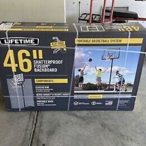 Lifetime 46in Adjustable Portable Basketball Hoop New for Sale in Schaumburg, IL