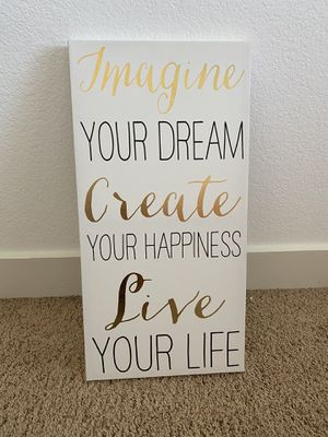 Girls room decor, girls wall decor, tall wall decor, quote decor for Sale in Riverside, CA