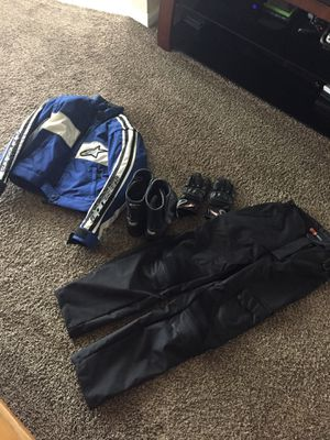 Women's Motorcycle gear,Jacket, pants, boots and gloves. for Sale in Vallejo, CA