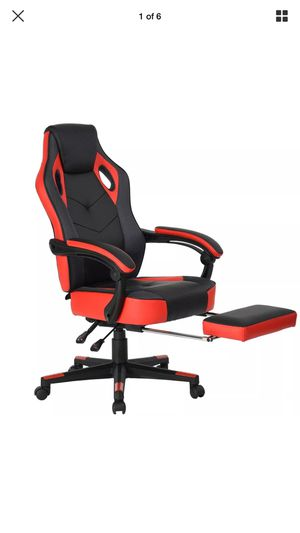 Computer Gaming Chair High-Back Racing Chair with Footrest and Reclining Backrest Ergonomic Design Racing Chair –Black/Red for Sale in Holly Springs, NC