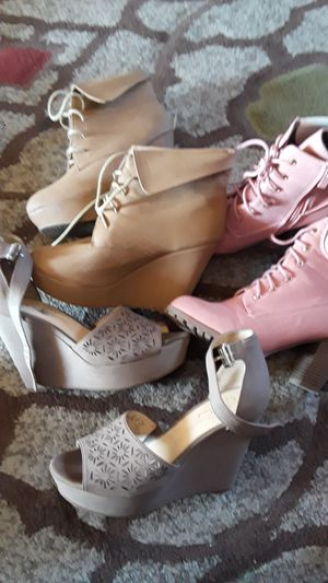Women's wedges and Boots for Sale in Dallas, TX