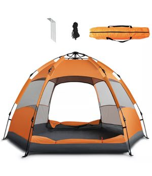 🔥 NEW 6-Person Orange Instant Pop-Up Tent for Camping Hicking for Sale in Miami, FL
