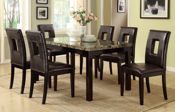 Faux Marble Dining Set Brand New (delivery available )