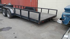 8x24 flatbed dropped axle car/universal trailer for Sale in Norwalk, CA