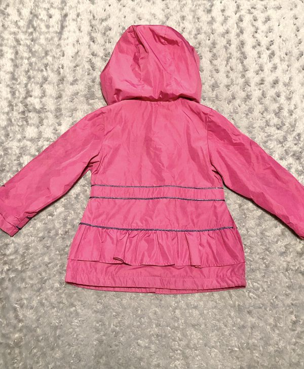 Girls London Fog Cute Peacoat paid $45 Size like new! Hooded Fleece Lined Peacoat Jacket Fuchsia