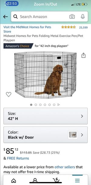Dog playpen/ dog xpen / dog exercise pen for Sale in Dover, FL