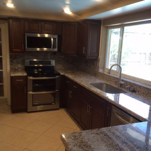 Kitchen and bath. Wood cabinets, Granite and countertop for Sale in Fort Lauderdale, FL