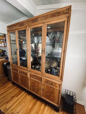 Antique / Vintage Wood China Cabinet (lots of storage) for Sale in Los Angeles, CA
