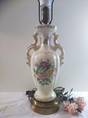 Vintage 1950s Floral Urn Table Lamp for Sale in Irvine, CA