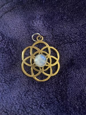 Brass Seed of Life Moonstone Pendant for Sale in San Marcos, CA