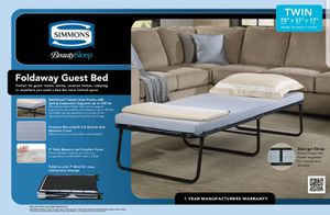 New Simmons Beauty Sleep Foldaway Guest Bed. for Sale in Pasadena, CA