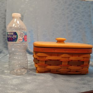 Longaberger 1996 Fathers day address basket w liner and lid for Sale in Batavia, IL