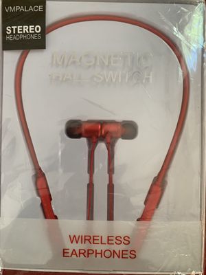 Bluetooth 5.0 magnetic stereo waterproof headphones for Sale in Randolph, MA