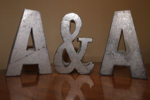 """Metal Letters - 7"""" tall for Sale in Palatine, IL"""