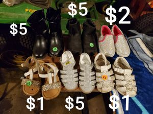 Toddler girls shoes for Sale in Attica, MI