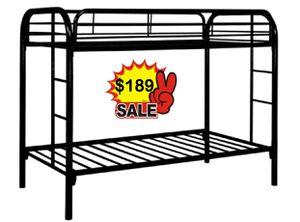 METAL BUNK BED NEW IN BOX TWIN OVER TWIN LITERA NUEVA EN SU CAJA for Sale in Miami, FL