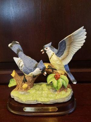 Wellington Collection Porcelain Blue Jays Statue for Sale in Davie, FL