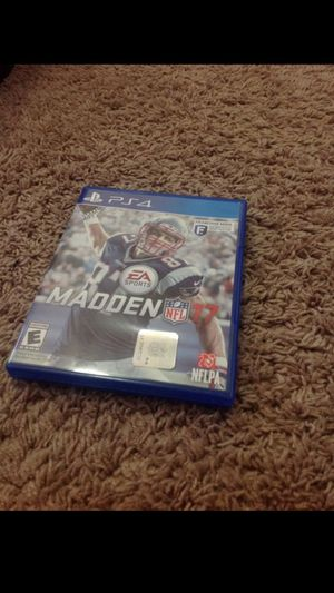 Maddden 17 Ps4 for Sale in Monroe, WA