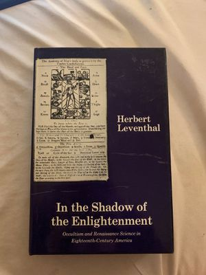In the Shadow of the Enlightenment by Herbert Leventhal- First Edition 1976 for Sale in Sammamish, WA