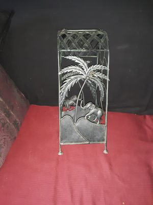 Metal Sturdy Elephant and Palm tree Wine Rack for Sale in Capitol Heights, MD