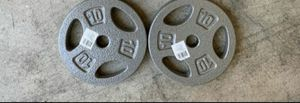 2 10lb weight plates $40 for Sale in Austin, TX