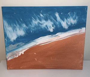 Beach acrylic painting on stretched canvas for Sale in Gainesville, VA