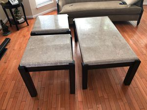 Coffee table and side tables with marble top for Sale in Manassas, VA