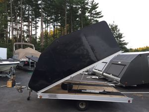 "2012 Mission 10'x101"" clam shell trailer all aluminum trailer will trade for Sale in Westford, MA"