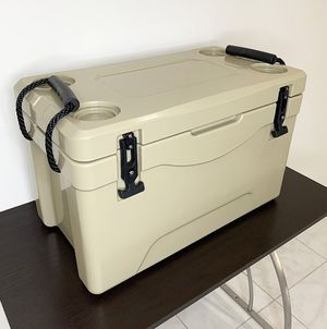 """$70 NEW Heavy-Duty 40qt Ice Box Cooler w/ Cup Holder & Carry Handle 24""""x13""""x15"""" for Sale in Whittier, CA"""