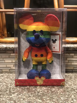 Disney Limited-Edition Rainbow Mickey Mouse Plush Special Edition for Sale in Fresno, CA