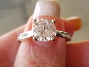 Hearts and arrows solitaire wedding ring..... size 7 for Sale in Riverside, CA