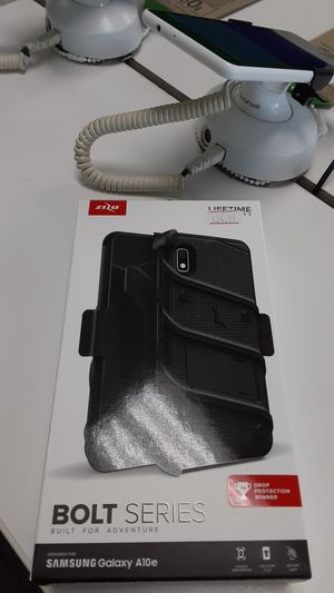 Samsung Galaxy A10e BOLT SERIES CASE!!! In Black!!! With tempered glass!!! for Sale in San Angelo, TX