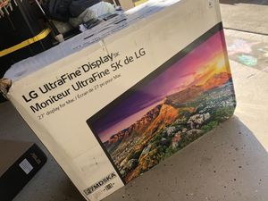 LG ultraFine 5k monitor for Mac for Sale in Houston, TX