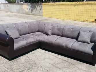 NEW 7X9FT CHARCOAL MICROFIBER COMBO SECTIONAL COUCHES for Sale in Costa Mesa,  CA