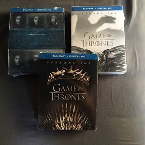 GAME OF THRONES BLU RAY DVD BOX SETS for Sale in Simi Valley, CA