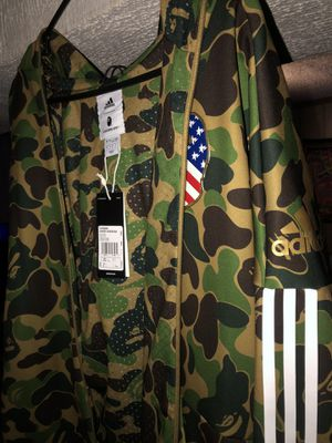 Adidas X Bape Shark Hoodie Green Camo Size Large for Sale in Algonquin, IL